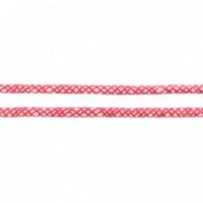 Baumwoll Kordel ♥ 8 mm ♥ Netzdesign Fuchsia