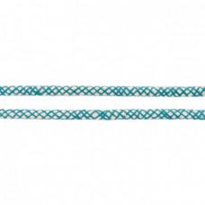 Baumwoll Kordel ♥ 10 mm ♥ Netzdesign Petrol