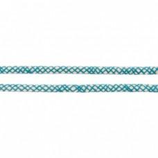 Baumwoll Kordel ♥ 8 mm ♥ Netzdesign Petrol