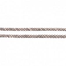 Baumwoll Kordel ♥ 10 mm ♥ Netzdesign Grau