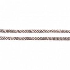 Baumwoll Kordel ♥ 8 mm ♥ Netzdesign Grau