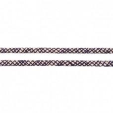 Baumwoll Kordel ♥ 10 mm ♥ Netzdesign Marine