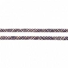 Baumwoll Kordel ♥ 8 mm ♥ Netzdesign Marine