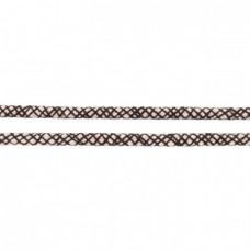 Baumwoll Kordel ♥ 10 mm ♥ Netzdesign Schwarz