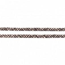 Baumwoll Kordel ♥ 8 mm ♥ Netzdesign Schwarz