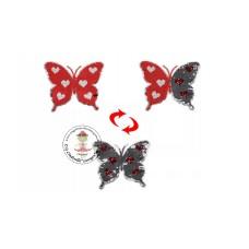 Schmetterling rot*Wende Pailetten Patch