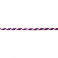 Kordel  3-farbig*Weiß*Rot*Blau