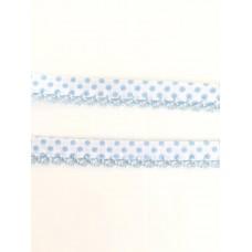 Einfassband mit Häkelborte*weiß/hellblau