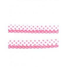 Einfassband mit Häkelborte*weiß/pink