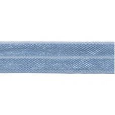 Elastisches Einfassband*Falzgummi hellblau