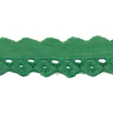 Wäschespitze Bordüre 25 mm* Raute*dunkelgrün