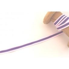 Ripsband*Grosgrainband Weiß*Rosa*Lila gestreift