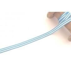 Ripsband*Grosgrainband Blau*Weiß gestreift