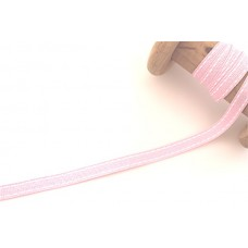 Ripsband*Grosgrainband Hellrosa, Weiß gesteppt