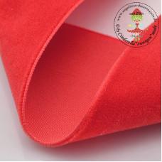 Samtband 10 mm Poppy Red*3 m