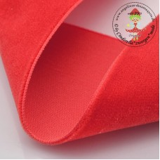 Samtband 10 mm Poppy Red*3 m