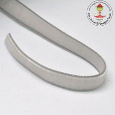 Samtband 10 mm Silver*3 m