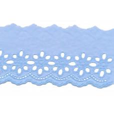 Wäschespitze Bordüre 75 mm*himmelblau