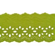 Wäschespitze Blütenzauber 80 mm ♥ lime Baumwolle