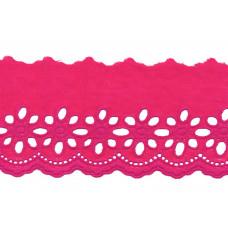 Wäschespitze Blütenzauber 80 mm ♥ fuchsia Baumwolle