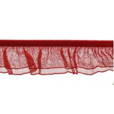 Organza Rüsche doppellagig rot*Wäschespitze
