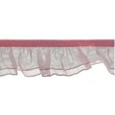Organza Rüsche doppellagig rosa*Wäschespitze