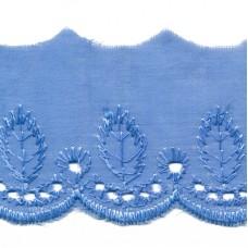 Wäschespitze Bordüre 50 mm*blau