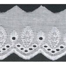 Wäschespitze Bordüre 50 mm*weiß