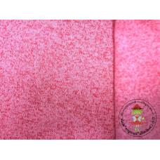Strickfleece meliert Pink