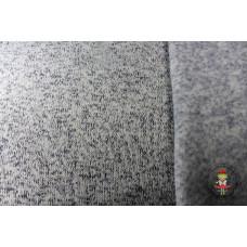 Reststück Strickfleece meliert Jeans 55 cm