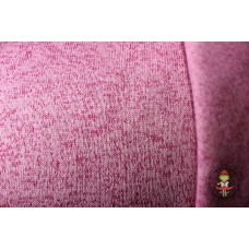Strickfleece meliert Berry