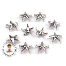 Ziernieten Sterne Silber Ø10mm