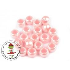 Großlochperle*Perlmutt 2*50 Stück Rosa