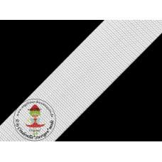 Gurtband Weiß 30 mm