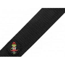 Gurtband Schwarz 30 mm
