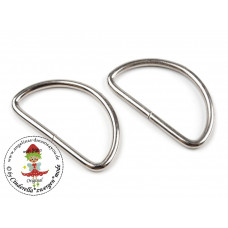 D-Ring Silber 38 mm 2 Stück