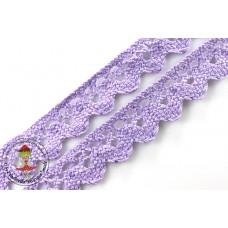 Klöppelspitze ZickZack Lavendel