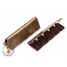 Endstück für Gurtband 30 mm, Altmessing, 10 Stück