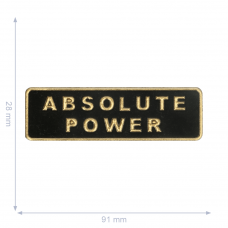 Label * Absolute Power * schwarz