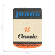 Label * Jeans 75 Classic * beige/blau