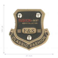 Label * Wappen Classic Fashion * braun