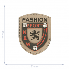 Label * Wappen New Sport Fashion * beige