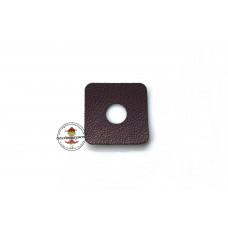 Aubergine * Kunstleder Ösen Patch 2,5 x 2,5 cm * 8 mm Ösen