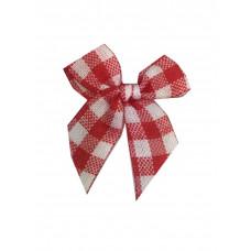 Mini Vichy Schleife rot, 5 Stück