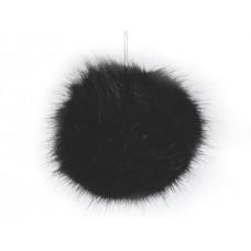 Fellbommel schwarz Ø 8cm