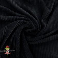 Baumwoll ♥ Cord Jersey ♥ UNI ♥ Schwarz