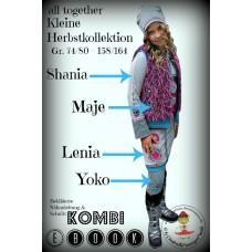 Kleine Herbstkollektion: Shania, Lenia, Yoko und Maje all together